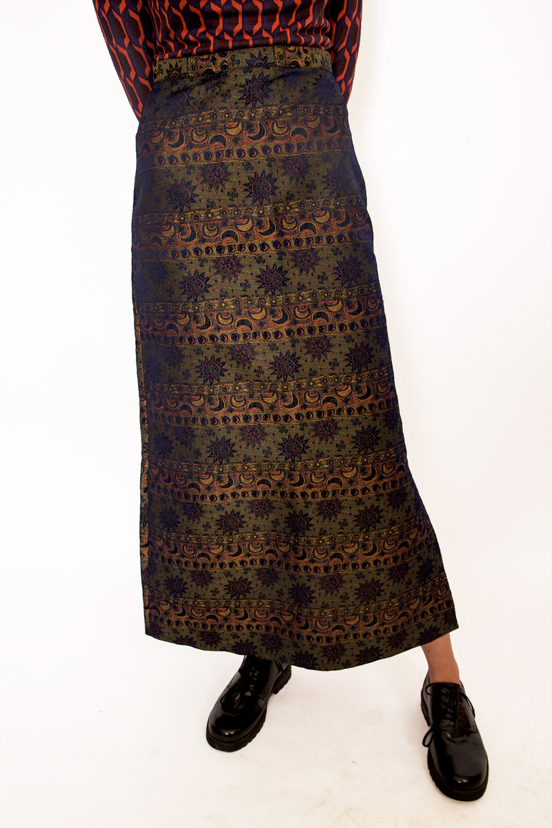 Buy Vintage '90s Night And Day Printed Skirt on Bodements
