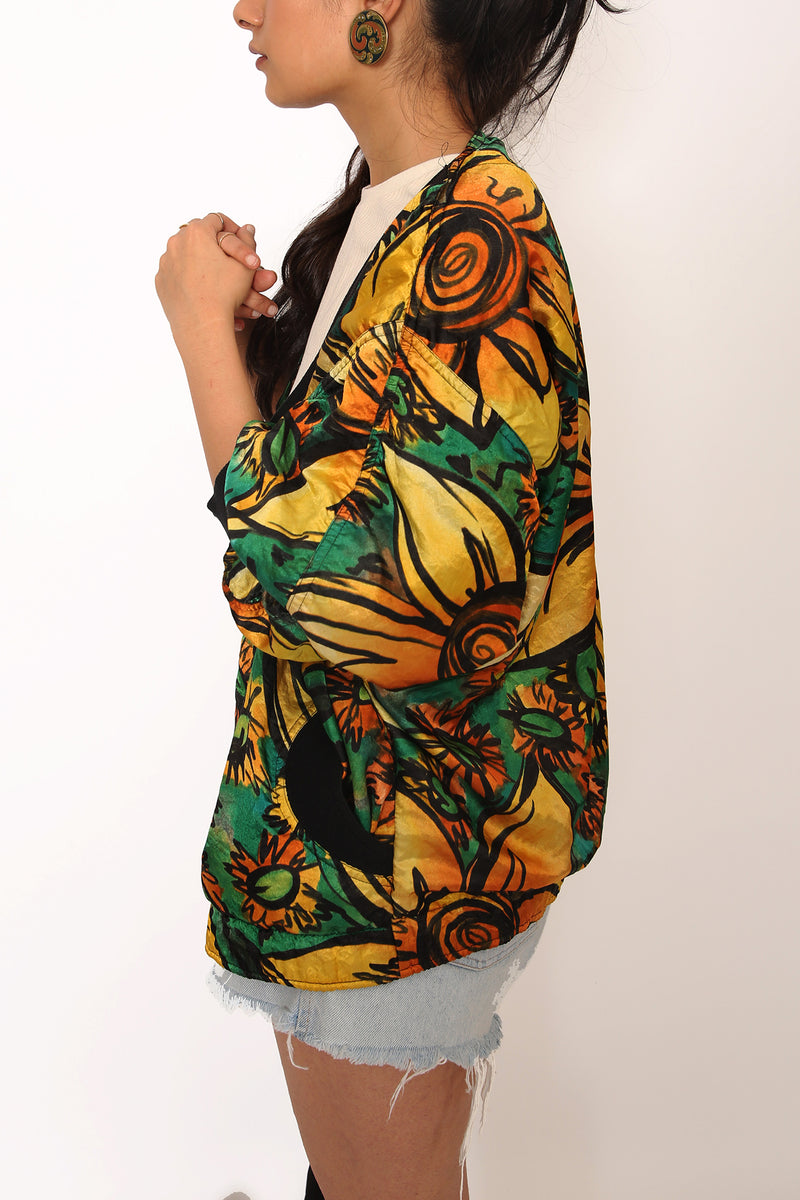 Buy Vintage Printed Bomber Jacket for woman on Bodements.com