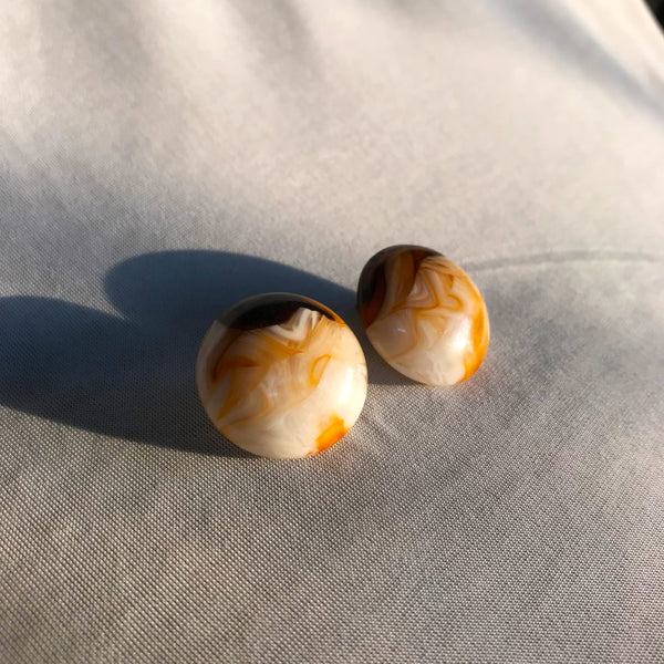 Buy Vintage 1980s Marble Clip-on Earrings on Bodements.com