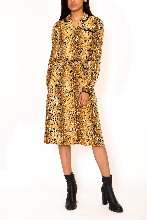 "Buy 1970's ""Fonda"" Dress with Belt for woman on Bodements"