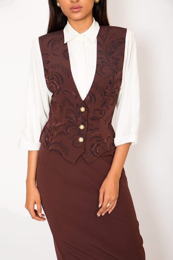 Buy '70s Midwest Dress With Shoulder Pads on Bodements.com