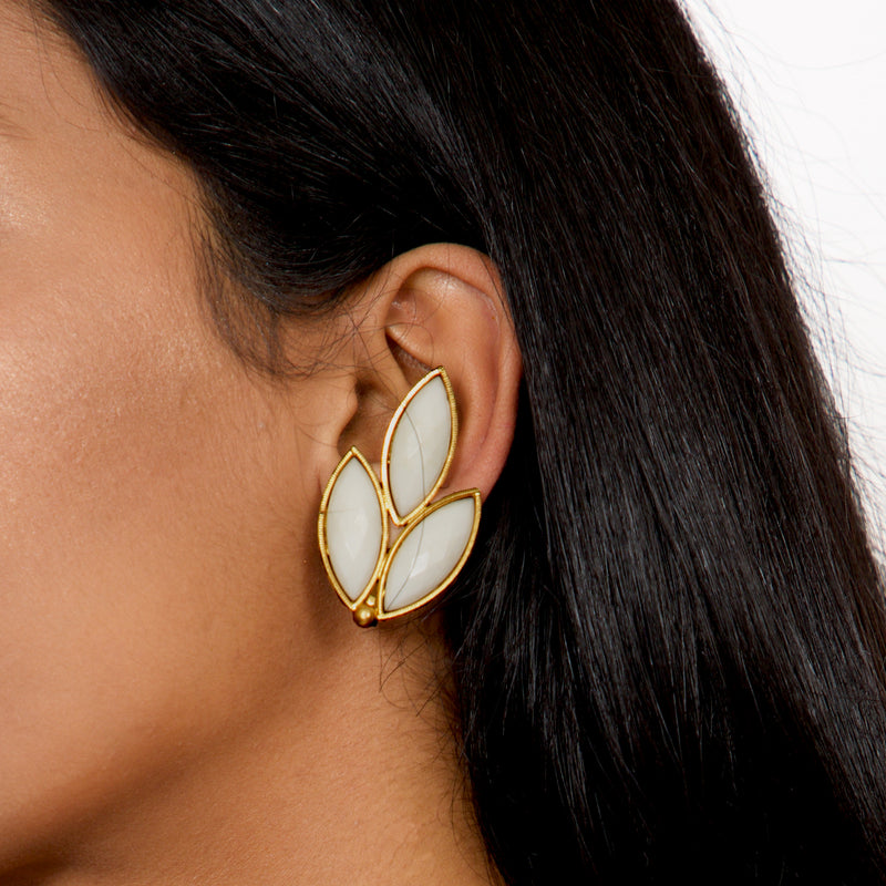 `70s Reversed Clip On Earrings