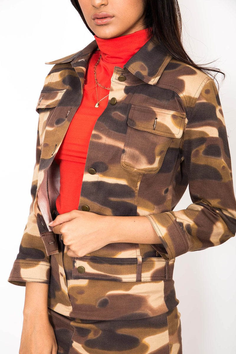 Buy Vintage '90s Brown Camo Ensemble for woman on Bodements.com