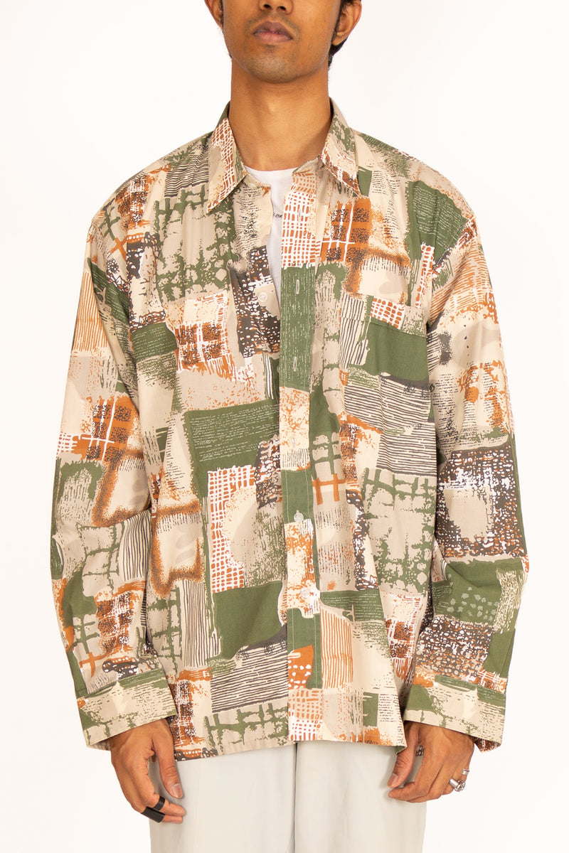 '80s Earthy Abstract Printed Unisex Shirt