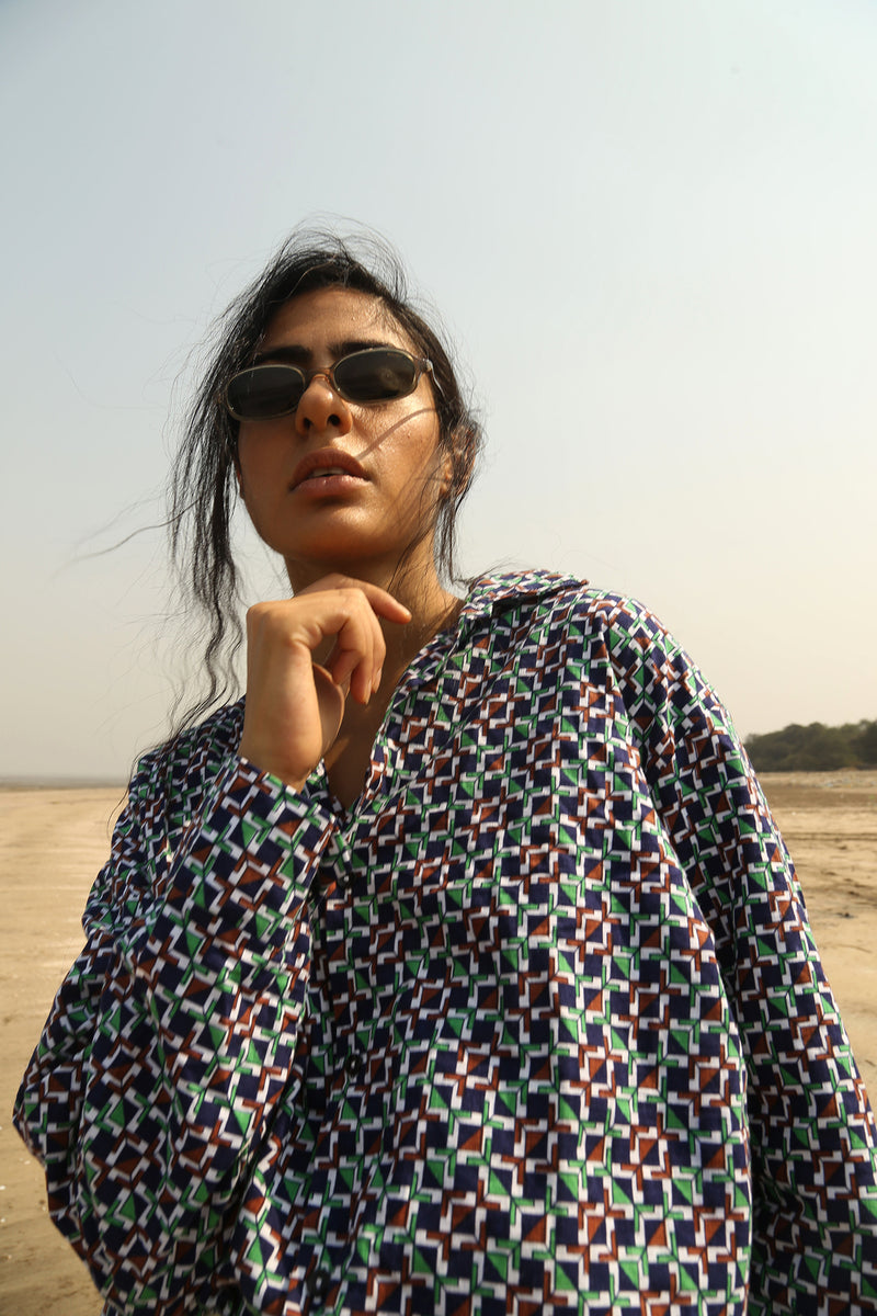 Buy Vintage Multi-Color Unisex Printed Shirt on Bodements.com