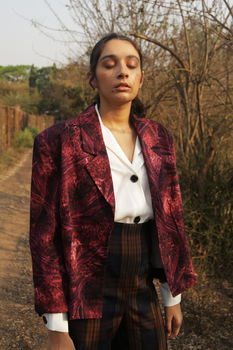 Buy Vintage Jungle Printed Blazer Jacket for Woman on Bodements.com