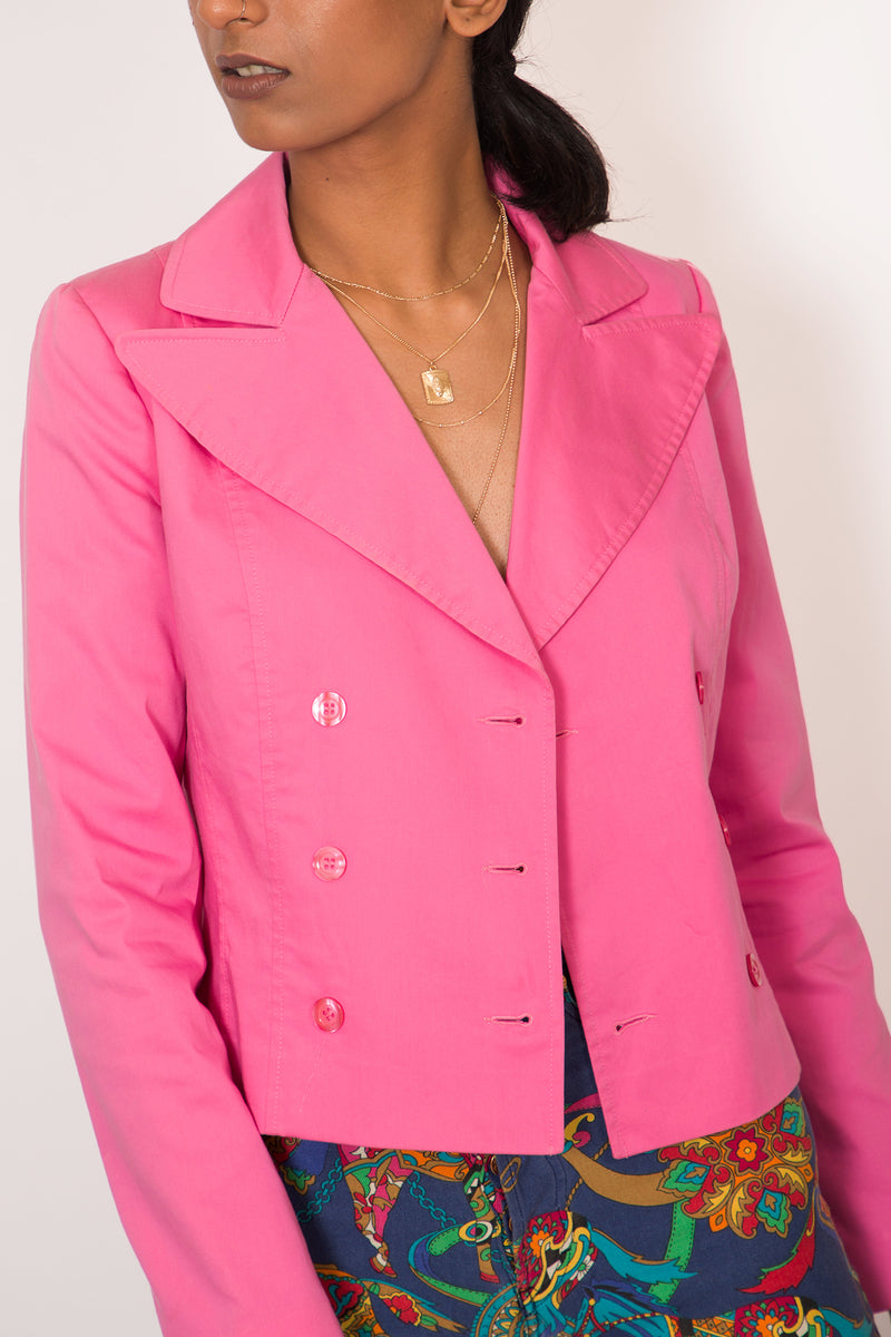 Buy Vintage Double Breasted Pink Jacket for Woman on Bodements.com