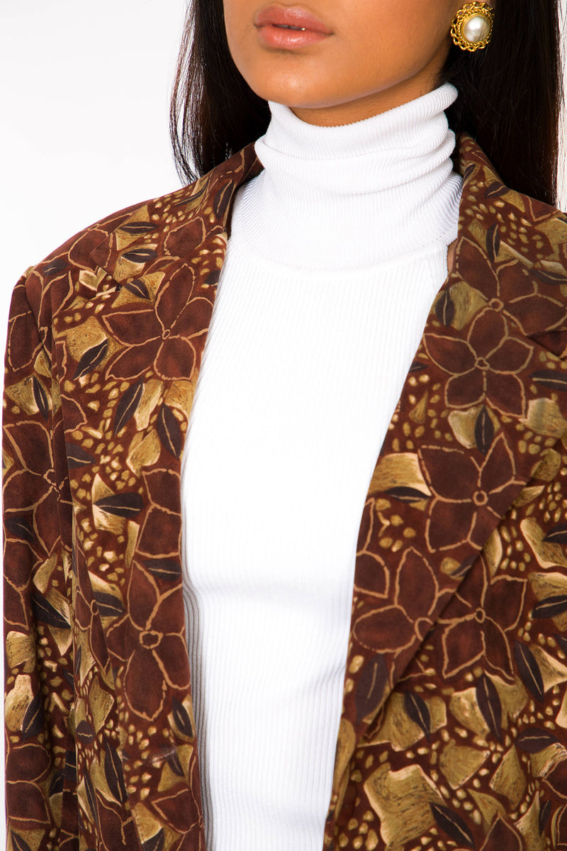 Buy Vintage Oversized floral Blazer Jacket for woman on Bodements.com
