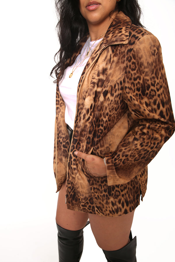 Buy Vintage Unisex Animal Print Jacket on Bodements.com