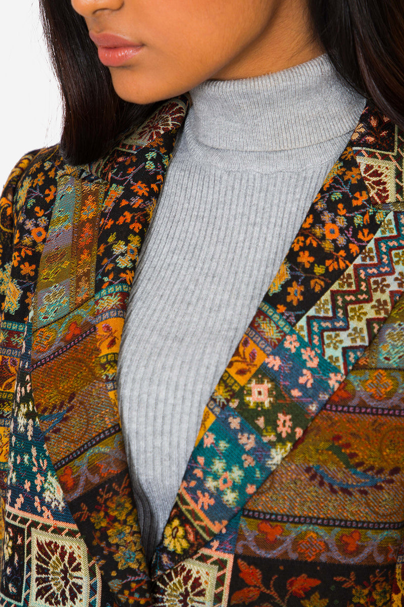 Buy Vintage Multi-Colored Patchwork Jacket for Woman on Bodements.com