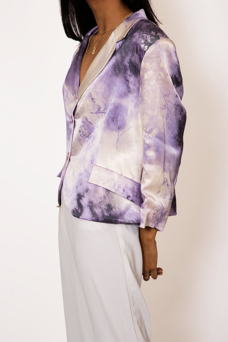 Buy Vintage Purple Watercolour Print Jacket on Bodements.com