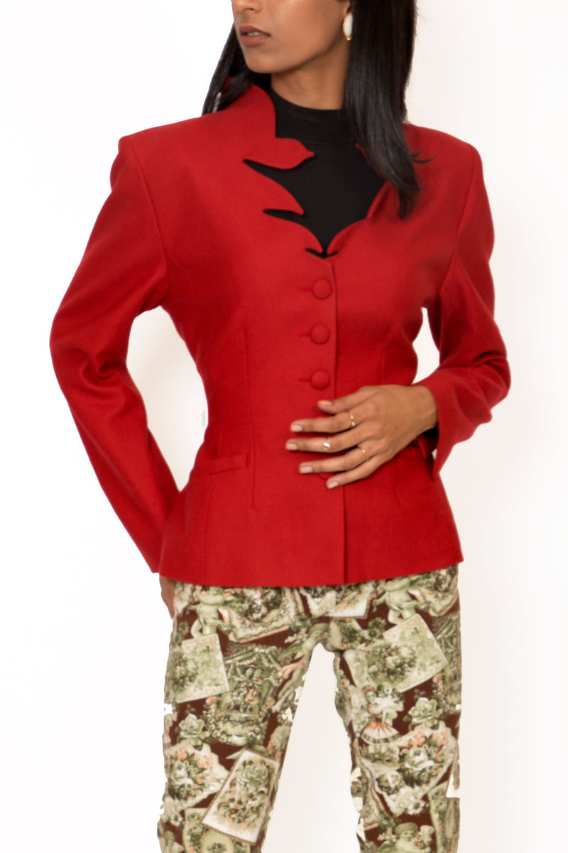 Buy Vintage Designer Emmanuelle Khanh Dragon Red Jacket for Woman on Bodements.com