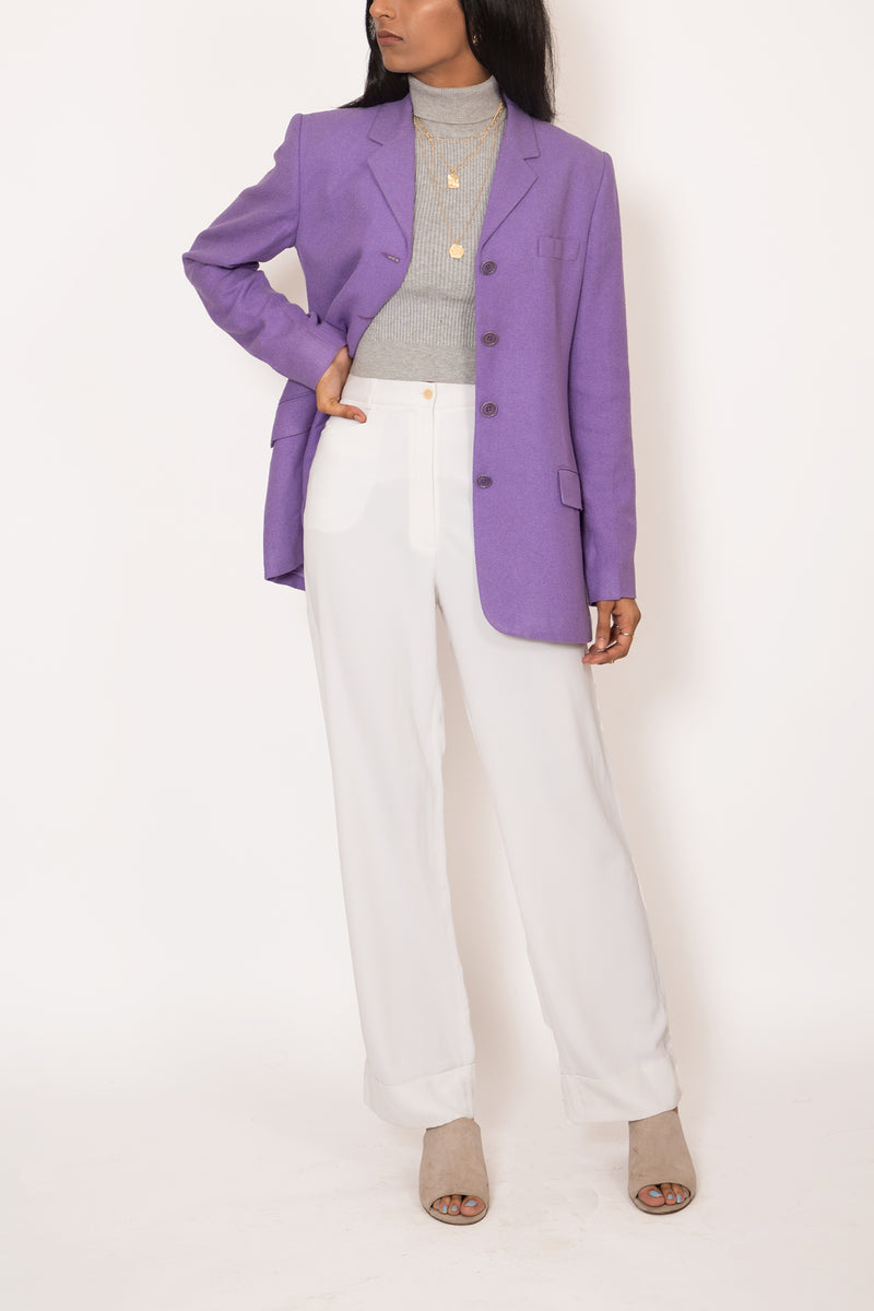 Buy Vintage Designer Gerard Darel White Pants for woman on Bodements
