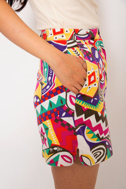 Buy Vintage '90s Printed High-Waist Shorts for woman on Bodements.com