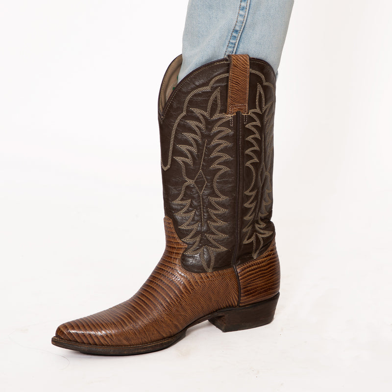 Buy Vintage Faux Snake Skin Cow Boy Boots on Bodements.com