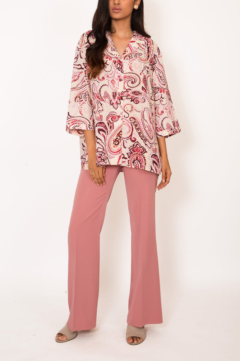 Buy Vintage Pink Paisley Printed Shirt for woman on Bodements