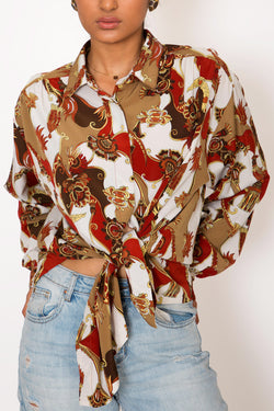 Buy Vintage 'Rococo' Printed Shirt for woman on Bodements