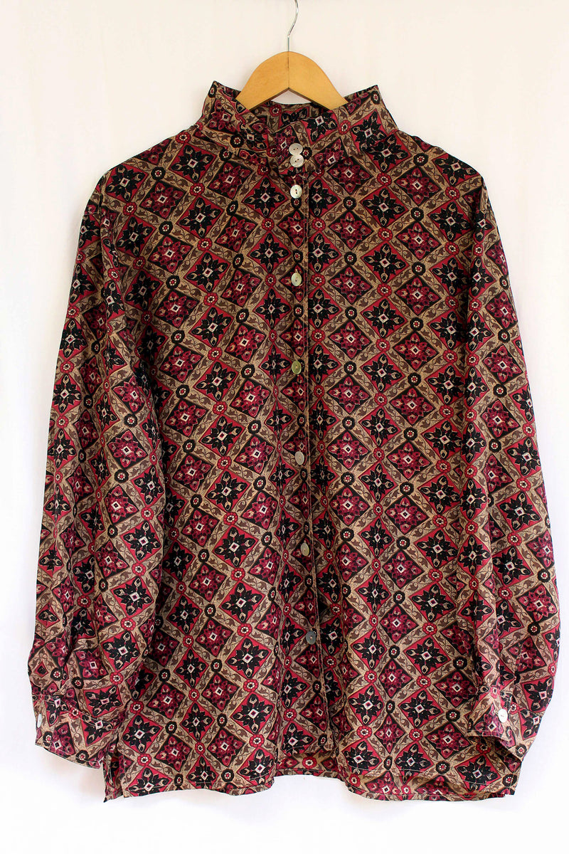 Buy '70s Kaleidoscopic Printed Unisex Shirt on Bodements.com
