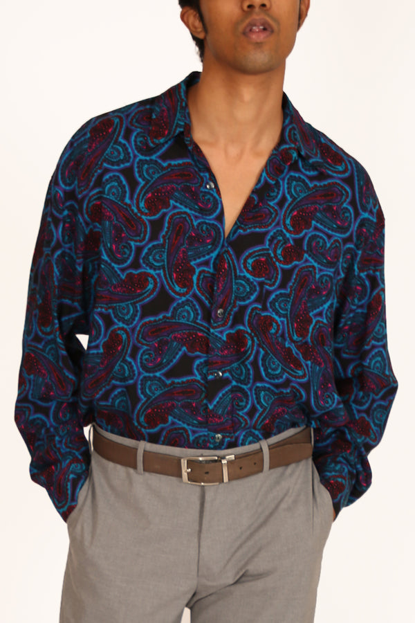 80's Psychedelic Paisley Shirt