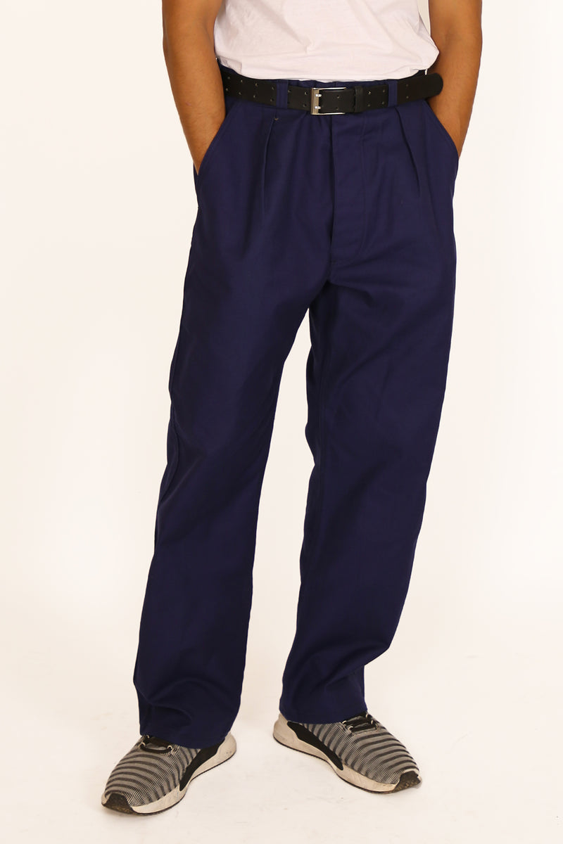 '80s Navy Blue Worker Pants