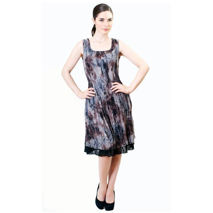 Printed Crinkle Dress - Foliage
