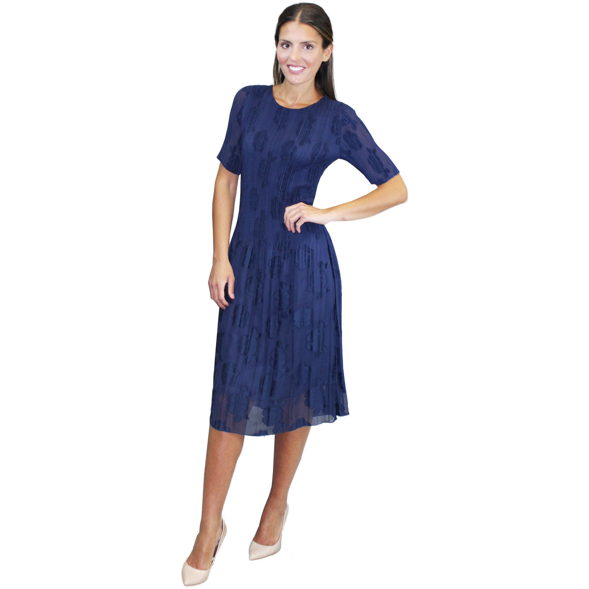 Monotone Dress - Navy
