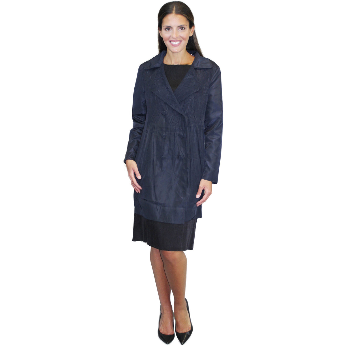 Crinkle Coat - Dark Navy
