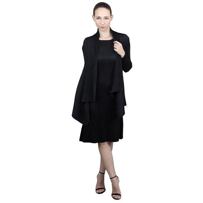 Flowy Crinkle Jacket - Black