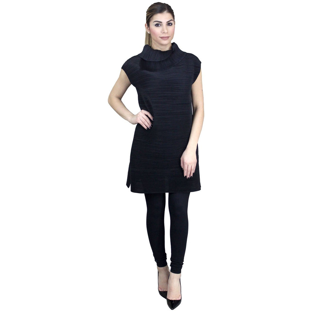 Accordion Tunic - Black