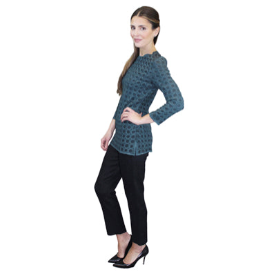 Circle Crinkle Top - Green