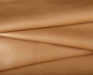 camel full grain cowhide leather