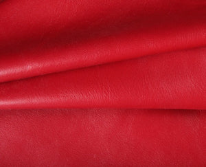 red caprice nappa lambskin leather
