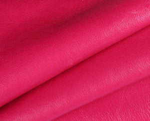fuschia nappa lambskin leather