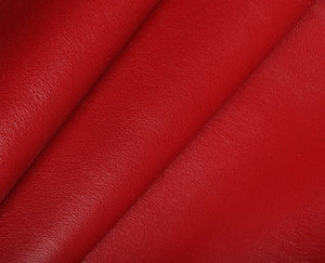 deep red nappa lambskin leather