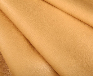 beige full grain semi aniline tanned cowhide leather
