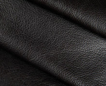 Load image into Gallery viewer, black full grain semi aniline tanned cowhide leather