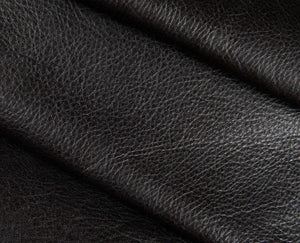 black full grain semi aniline tanned cowhide leather