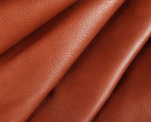 Load image into Gallery viewer, brick red full grain semi aniline tanned cowhide leather