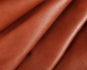 brick red full grain semi aniline tanned cowhide leather