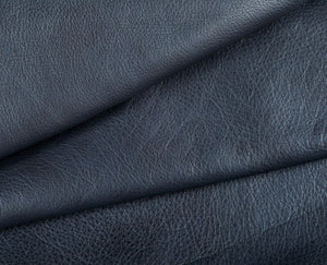 navy full grain semi aniline tanned cowhide leather