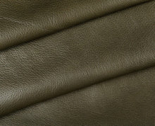 Load image into Gallery viewer, olive full grain semi aniline tanned cowhide leather