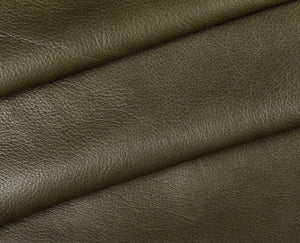 olive full grain semi aniline tanned cowhide leather