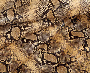 brown africa embossed calf leather hide
