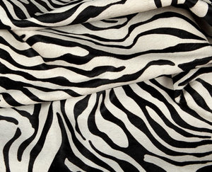 Hair On Printed Baby Zebra