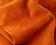 Load image into Gallery viewer, orange calf suede