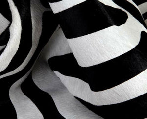 Hair On Printed Big Zebra