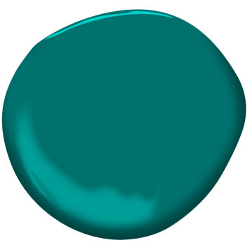 Shop Benjamin Moore's 2052-30 Tropical Turquoise paint color online at Regal Paint Centers in MD & VA.