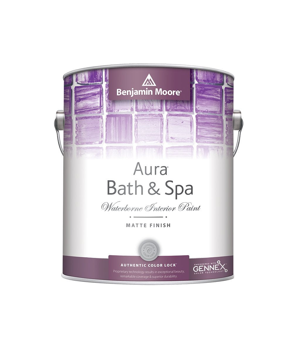 Benjamin Moore Aura Bath and Spa available in Gallons and Quarts online at Regal Paint Centers.