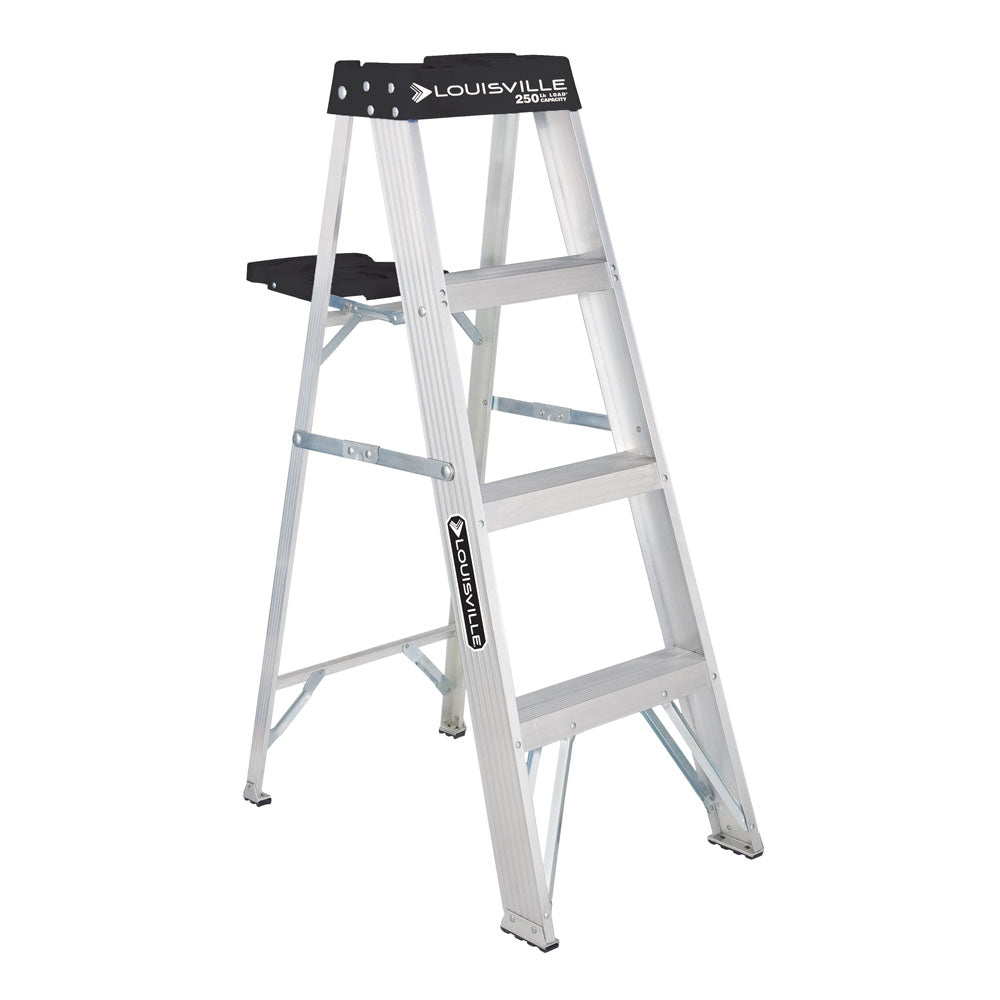 4 Foot Aluminum Platform ladder with pail shelf, available at Regal Paint Centers in MD.