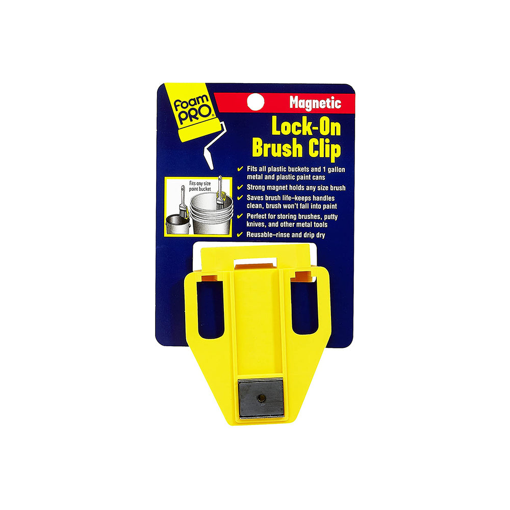 Lock-On Magnetic Brush Clip